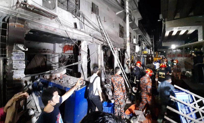 রাজধানীর মগবাজারে বিস্ফোরণ : মৃত্যু ৭ আহত ৬০